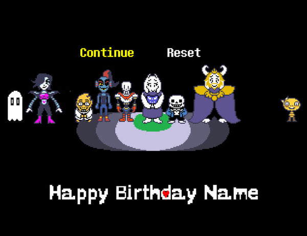 Undertale Spotlight Edible Cake Topper - Trish Gayle