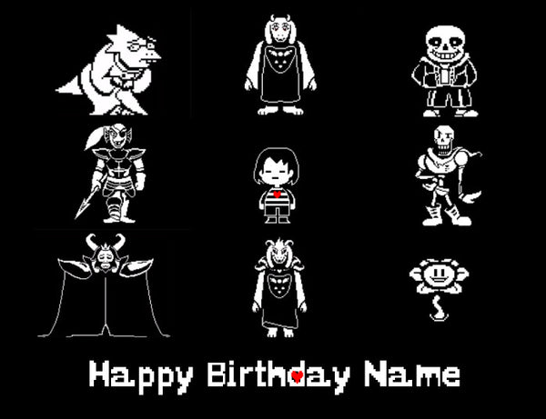 Undertale Characters Edible Cake Topper - Trish Gayle