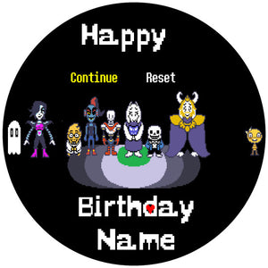 Undertale Spotlight Edible Cake Topper