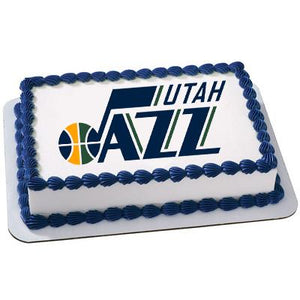 Utah Jazz Logo Edible Cake, Cupcake & Cookie Topper - Trish Gayle
