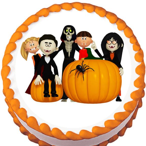 Vampire Gang Halloween Edible Cake, Cupcake & Cookie Topper