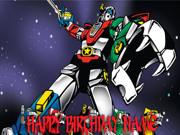 Voltron Attacks Edible Cake, Cupcake & Cookie Topper - Trish Gayle