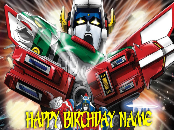 Voltron Edible Cake, Cupcake & Cookie Topper - Trish Gayle