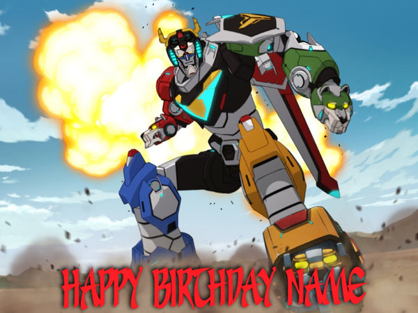 Voltron Wins Edible Cake, Cupcake & Cookie Topper - Trish Gayle