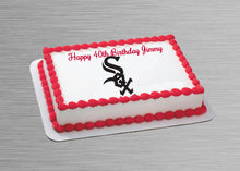 Load image into Gallery viewer, Chicago White Sox Logo Edible Cake, Cupcake & Cookie Topper - Trish Gayle