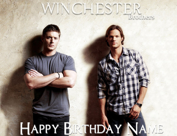 Supernatural Winchester Brothers Edible Cake Topper - Trish Gayle