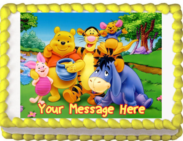 Winnie the Pooh Friends Edible Cake, Cupcake & Cookie Topper - Trish Gayle