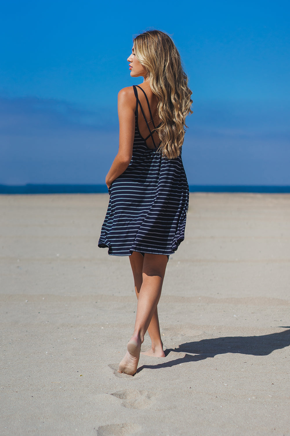 Santa Monica Cross Back Dress