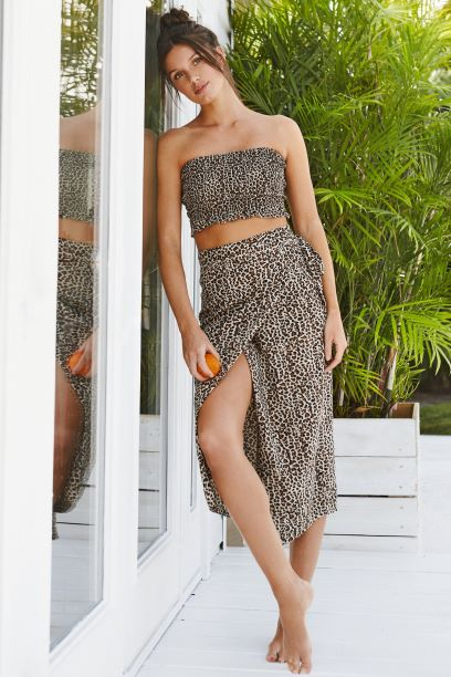 leopard print coverup and kaftan with slits that add coverage for any beach, tropical, or resort vacation! Made in collaboration with vancouver women-owned clothing and loungewear lien brunette the label.