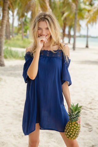 Blue Beach Long Dress