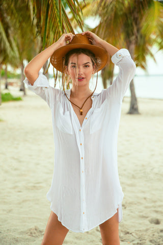 Palm Beach Maxi Shirt Dress