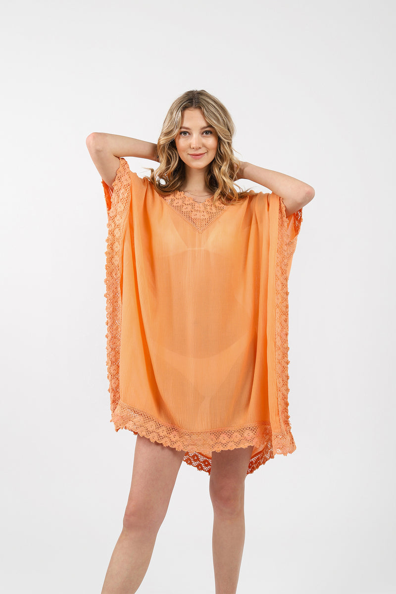 Miami Crochet Trim Kaftan