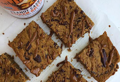 Peanut Cashew Butter Blondies