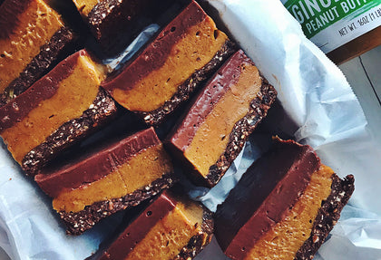 Layered Gingerbread Caramel Bars
