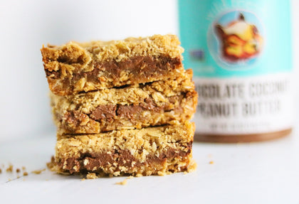 Chocolate Coconut Peanut Butter Oatmeal Cookie Bars