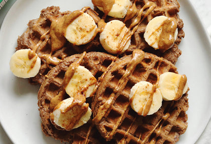 Almond Butter Banana Waffles