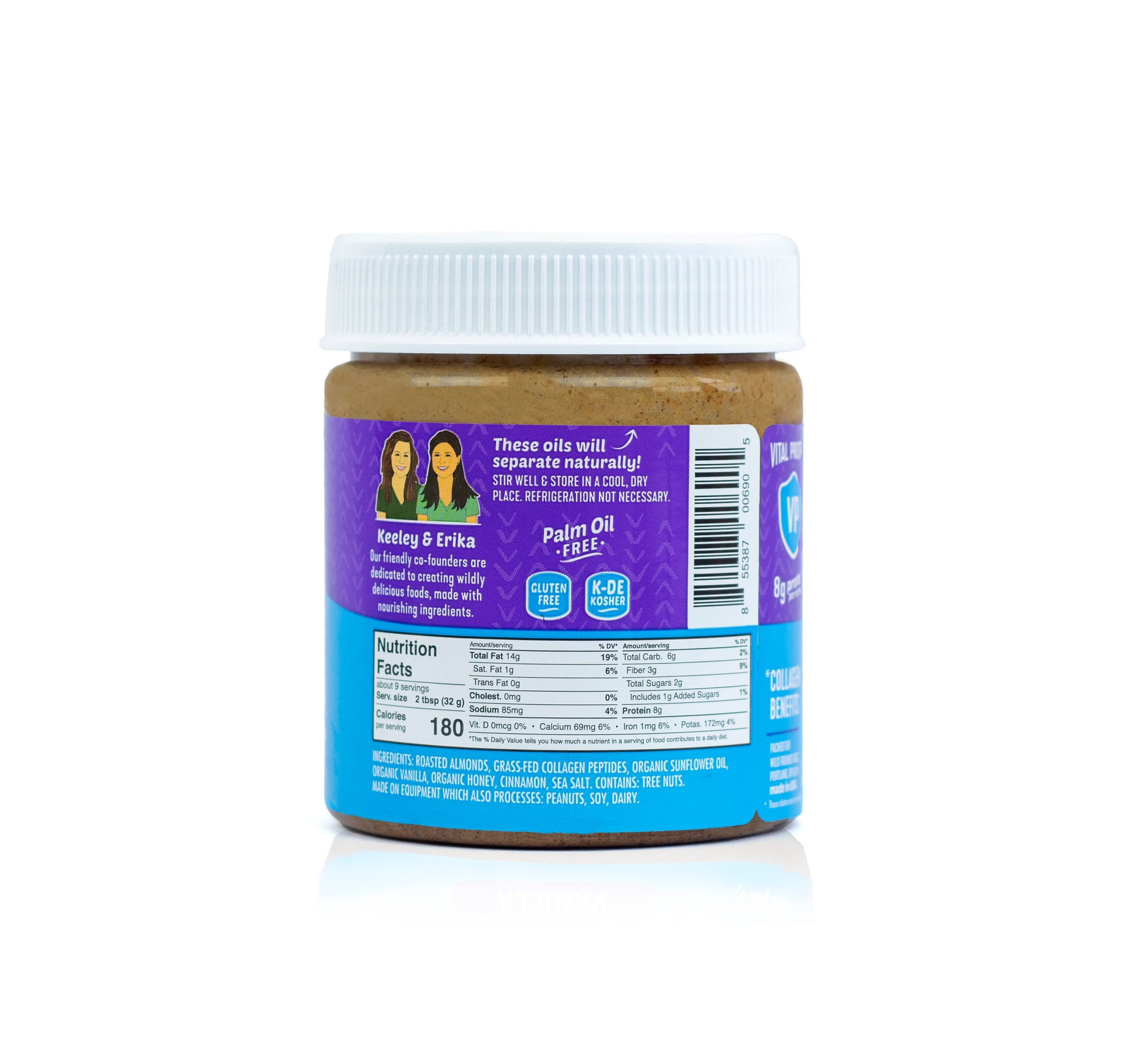 Vanilla Collagen Almond Butter - Single Jar