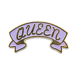 Queen banner enamel pin