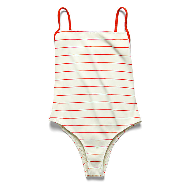 Chelsea One Piece in Lipstick Pinstripe