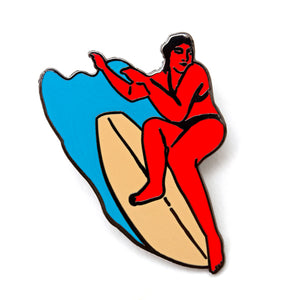 Surf Girl Pin