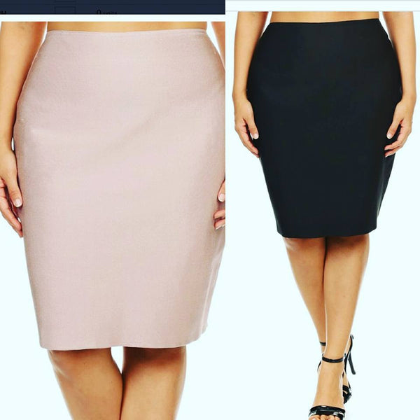 sale-Plus Body Con Pencil Skirt - Clearance