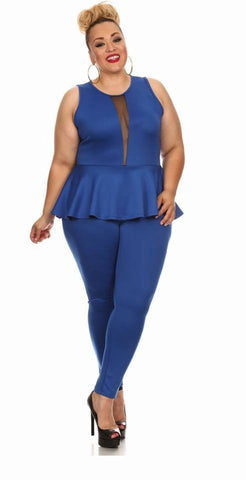 Sale-Royal Blue Jumsuit- Clearance