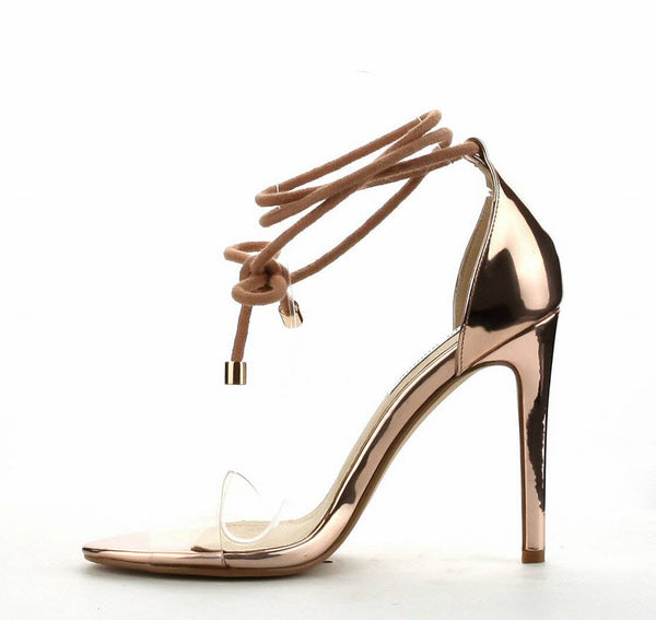 Sale-Rose Gold Glam Heels