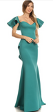 Sale-Teal Elegant Dress