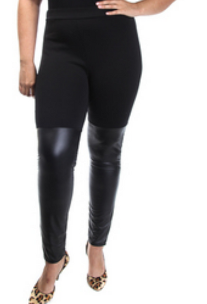 Sale- Faux Leather Leggings-Clearance