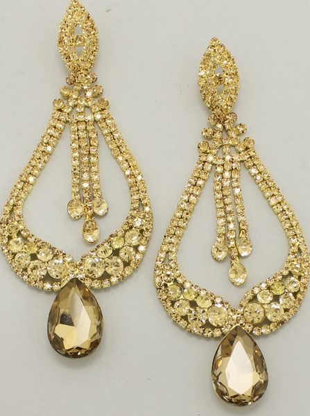 Sale-Gold Glam Statement Earrings
