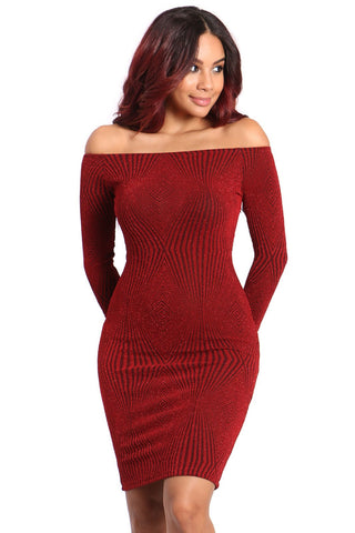 Dress-off the shoulder holiday dress - Clearance