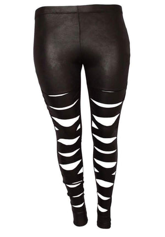 Sale- Plus Shredded Leggings - Clearance