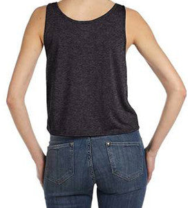 Ladies Flowy Boxy Cropped Tank