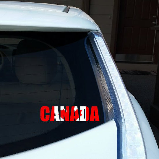 Canada Name Car Decal