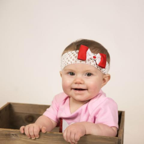 Canada flag headband for babies