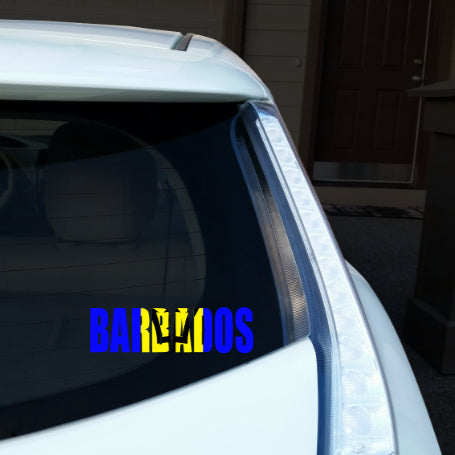 Barbados Name Car Decal