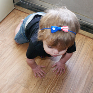 Puerto Rico Flag Hair Bow