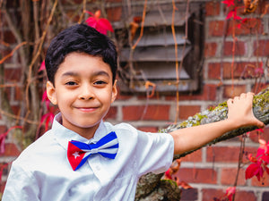 Cuba Flag Bow Tie For Men and Boys