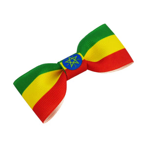 Ethiopia Flag Hair Bow