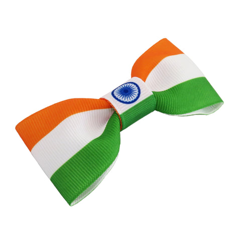 India Flag Hair Bow