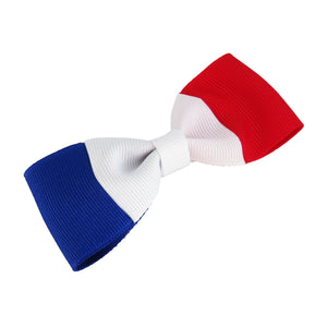France Flag Hair Bow