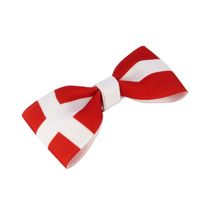 Denmark Flag Hair Bow
