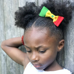 Senegal Flag Hair Bow