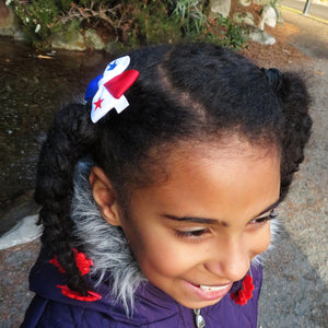 Panama Flag Hair Bow