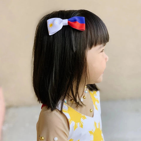 Girl with Philippines Flag Hair Bow