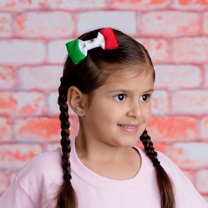 Mexico Flag hair bow for girls