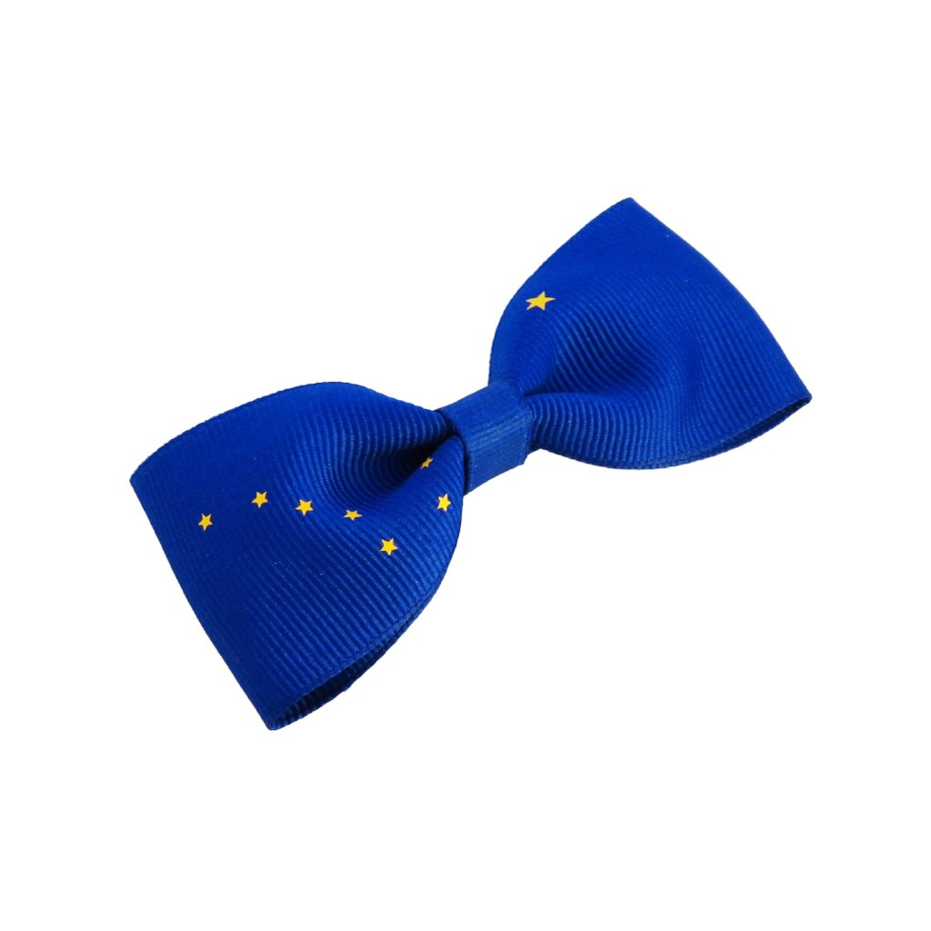 Alaskan flag hair bow