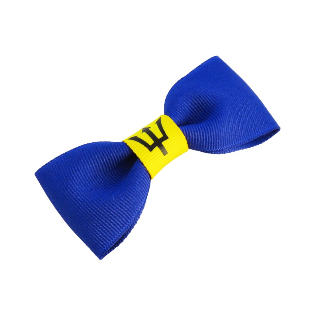 Barbados flag hair bow