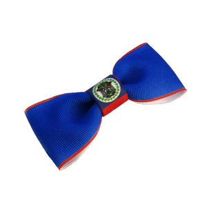 Belize flag hair bow