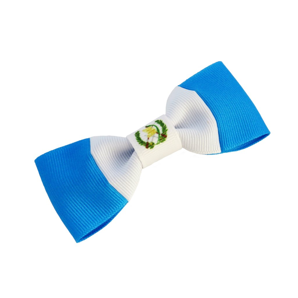 Guatemala flag hair bow